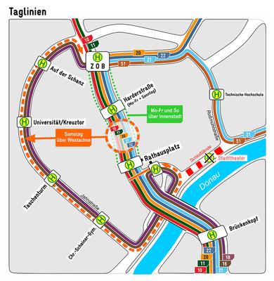 Taglinienplan DONAU-LUST